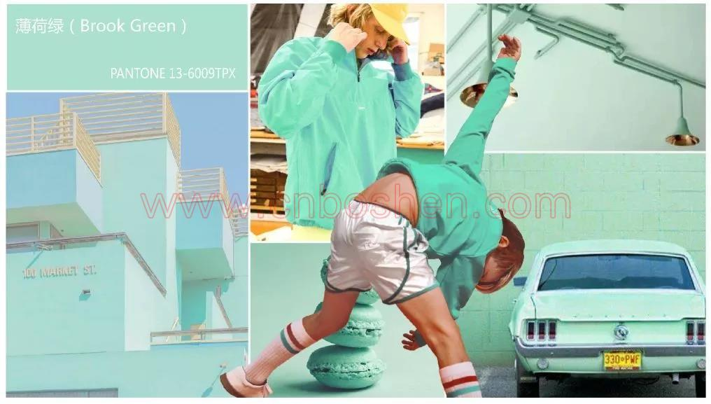 Mint green -- Fashion color for lady bag customization in Spring and Summer, 2019