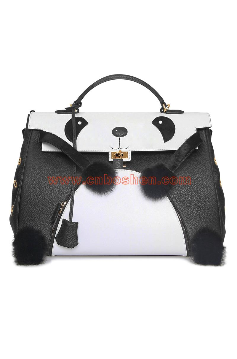 BSWH001-09 lady leather bag manufacturers Panda modeling