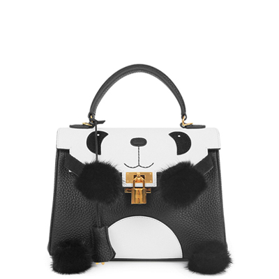 BSWH001-11 leather bag manufacture panda handbag