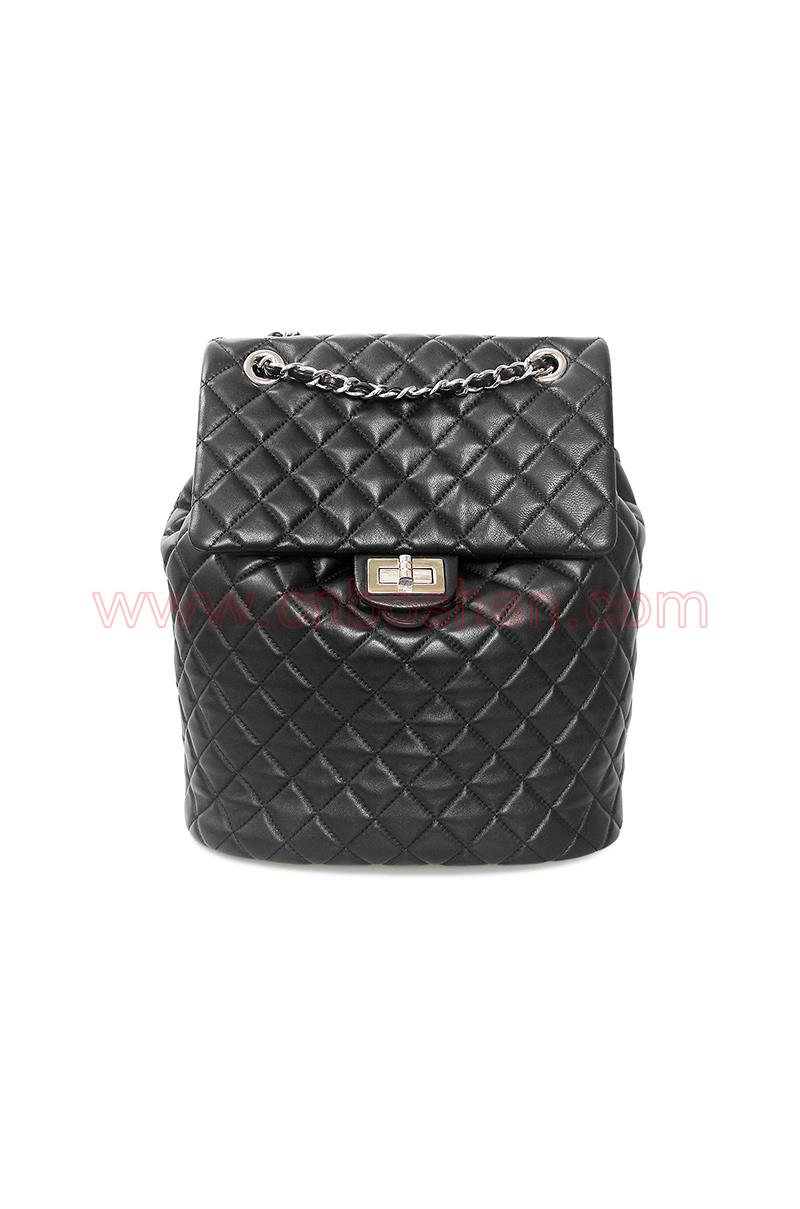 BS-WB003-02 leather bag manufacture lady backpack bags